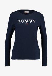 Tommy Jeans - ESSENTIAL LOGO LONGSLEEVE - Topper langermet - black iris - 4
