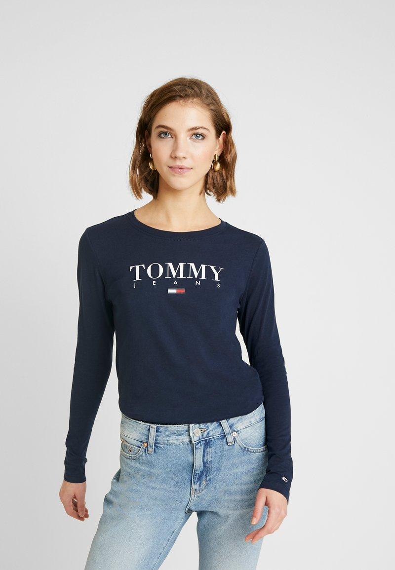 Tommy Jeans - ESSENTIAL LOGO LONGSLEEVE - Topper langermet - black iris