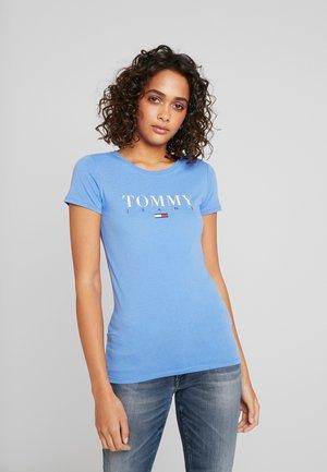 ESSENTIAL SLIM LOGO TEE - Print T-shirt - ultramarine