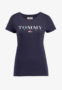 Tommy Jeans - ESSENTIAL SLIM LOGO TEE - T-shirts med print - black iris - 3