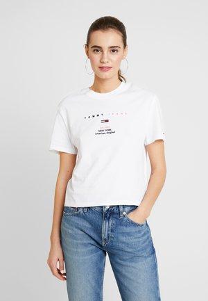 SMALL LOGO TEXT TEE - Camiseta estampada - classic white