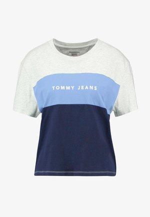 STRIPE LOGO TEE - T-shirts print - pale grey/multi