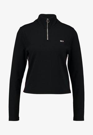TAPE DETAIL LONGSLEEVE - Long sleeved top -  black