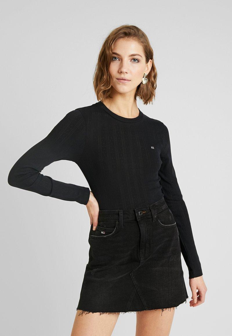 Tommy Jeans - LOGO DETAIL LONGSLEEVE - T-shirt à manches longues - black