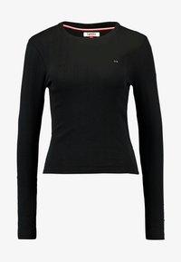 Tommy Jeans - LOGO DETAIL LONGSLEEVE - T-shirt à manches longues - black - 3