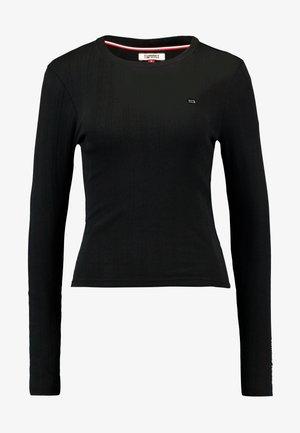 LOGO DETAIL LONGSLEEVE - Long sleeved top - black