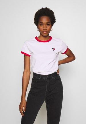 RINGER HEART TEE - Print T-shirt - classic white