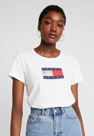 METALLIC LOGO TEE - T-shirt imprimé - white