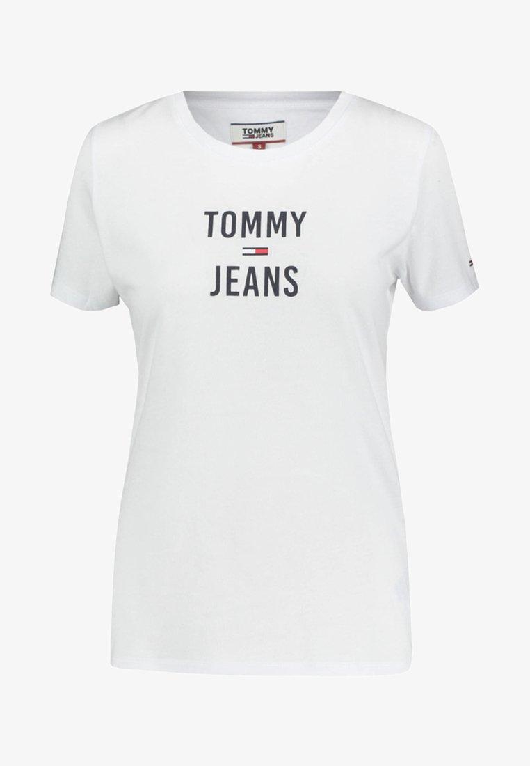 Tommy Jeans - SQUARE LOGO - Print T-shirt - white