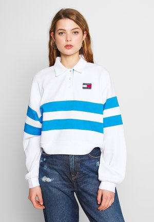 STRIPE LONGSLEEVE - Polo - white