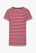 TEXTURED STRIPE TEE - Print T-shirt - pink daisy/white