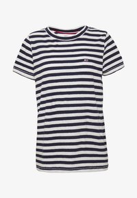 Tommy Jeans - TEXTURED STRIPE TEE - Print T-shirt - twilight navy / white - 3