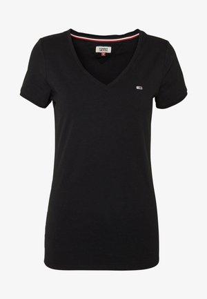SHORTSLEEVE STRETCH TEE - T-shirt basic - black