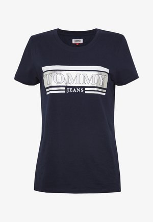 METALLIC LOGO TEE - Triko s potiskem - twilight navy