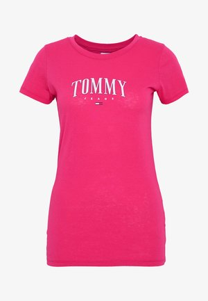 SCRIPT  - T-shirt imprimé - blush red