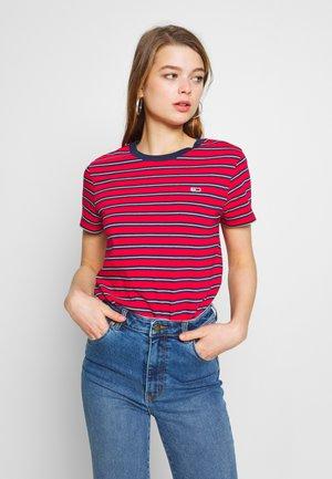 CLASSICS STRIPE TEE - T-shirt imprimé - deep crimson/multi
