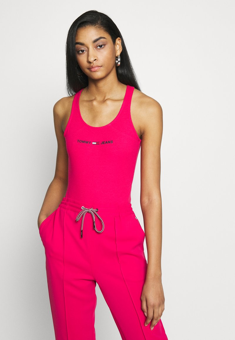 Tommy Jeans - STRAP BODYSUIT - Top - blush red