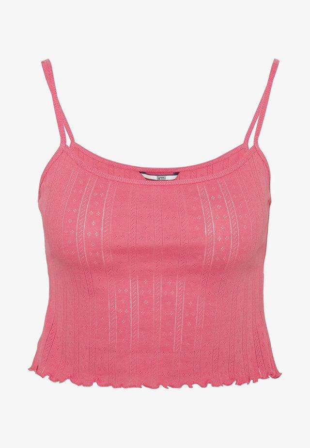 BABYLOCK DETAIL TANK - Toppe - glamour pink