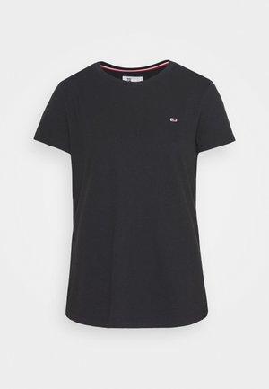 TEXTURE TEE - Print T-shirt - black