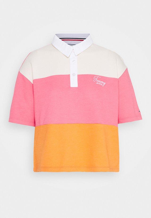 COLORBLOCK LOGO  - Poloshirts - rustic orange/multi