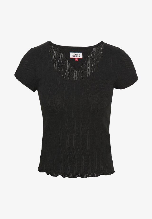 BABYLOCK DETAIL TEE - T-shirts print - black