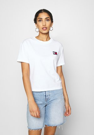 BADGE TEE - Basic T-shirt - white