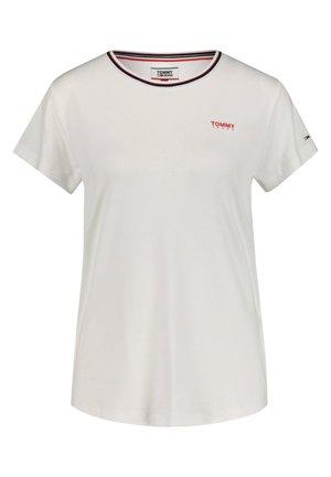 TOMMY JEANS DAMEN T-SHIRT - Basic T-shirt - weiss (10)