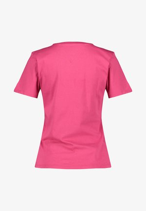 TOMMY JEANS DAMEN T-SHIRT - Print T-shirt - beere (72)