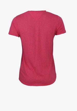 MIT PRINT HIBIS - Basic T-shirt - rosa - lila