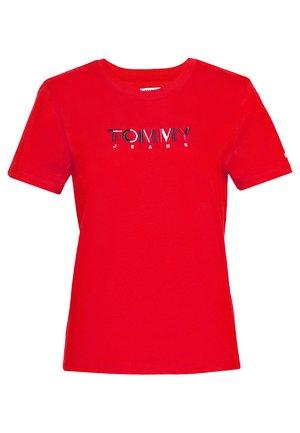 LOGO - T-shirt z nadrukiem - red