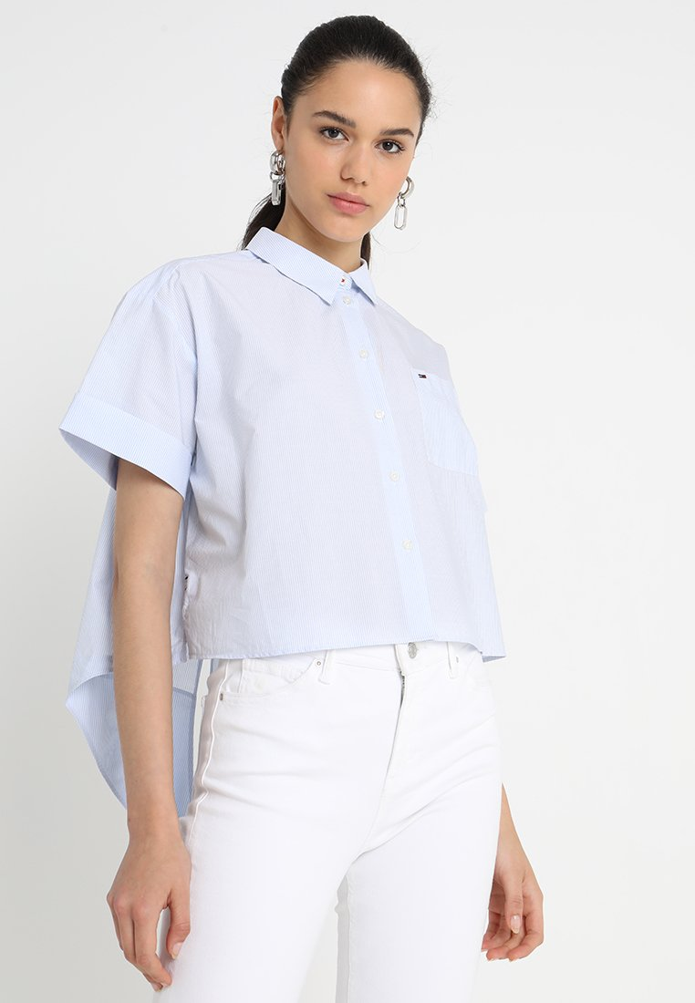 Tommy Jeans - SUMMER BOW  - Chemisier - serenity/bright white