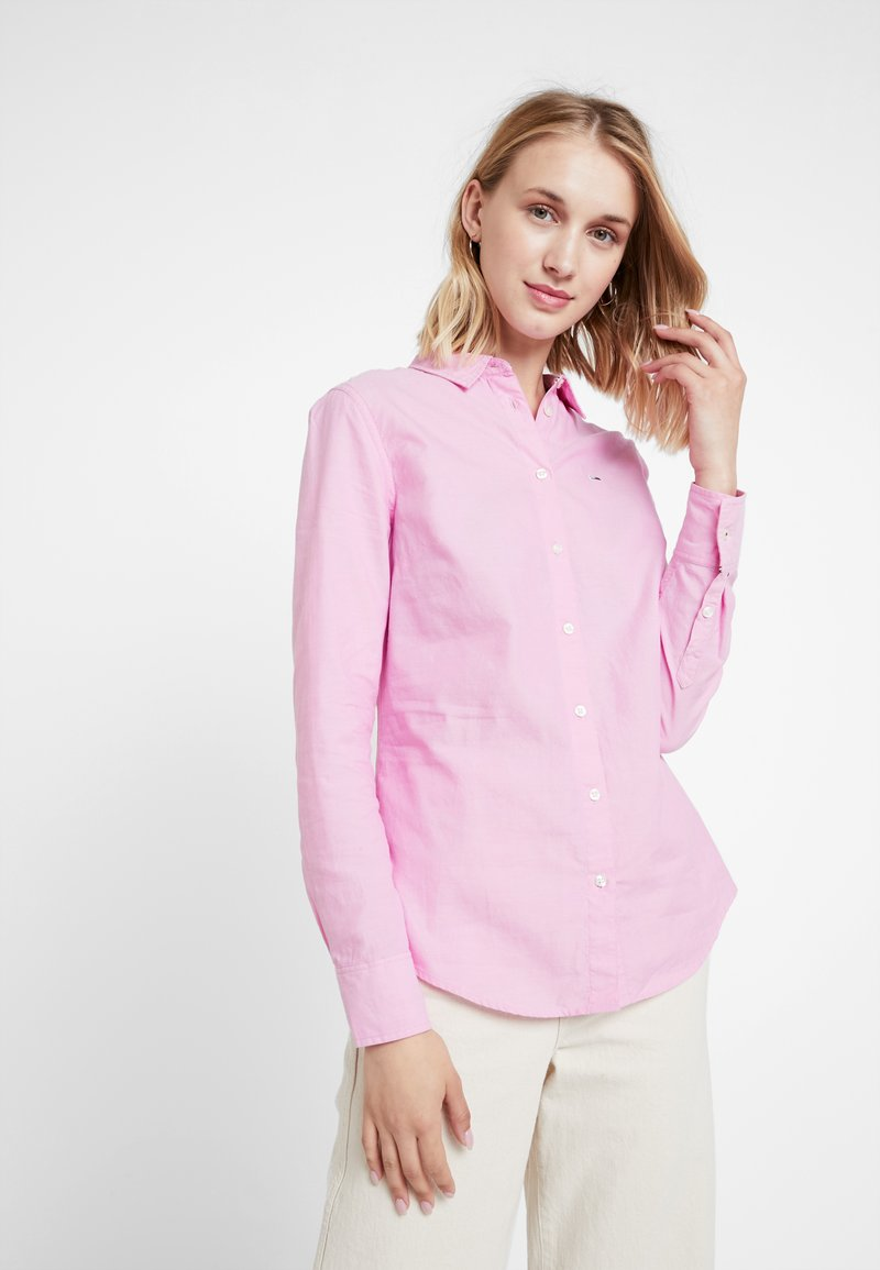 Tommy Jeans - OXFORD - Skjortebluser - lilac