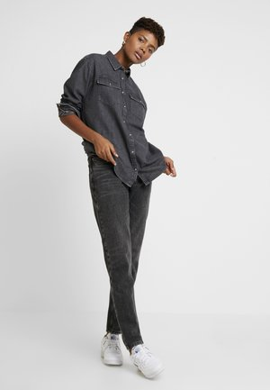 Button-down blouse - mission washed black
