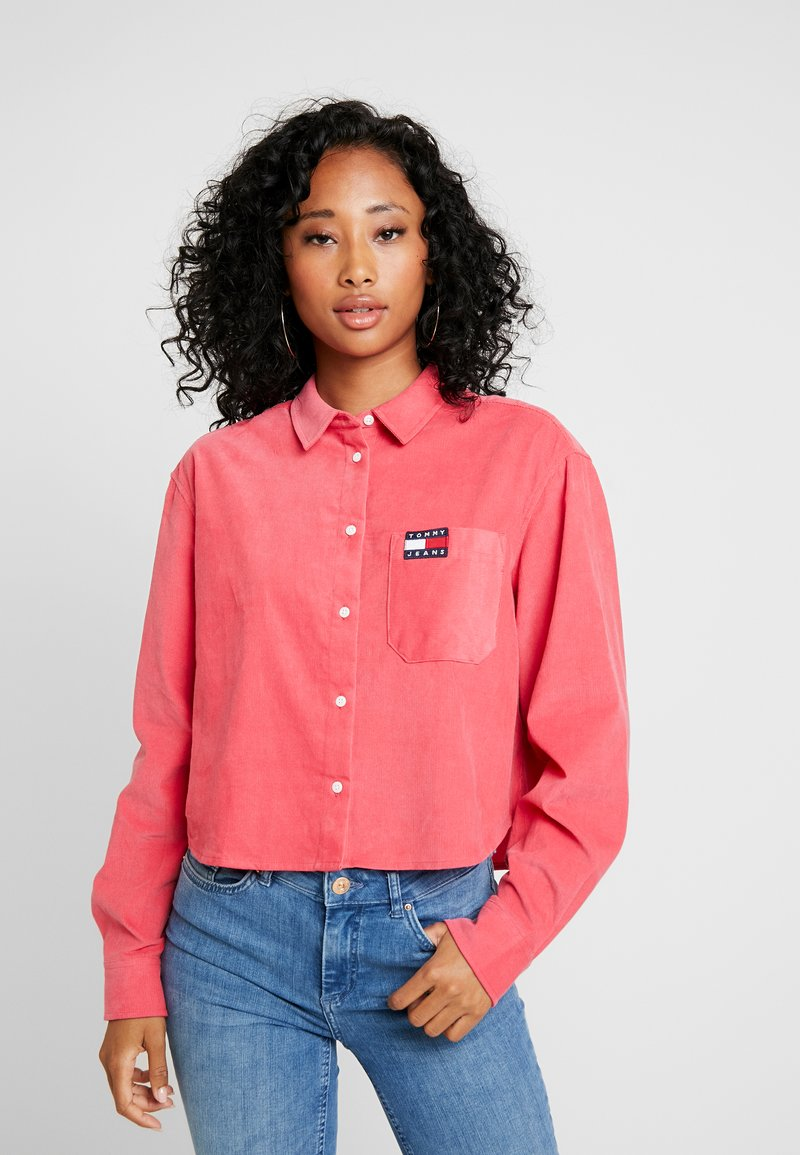 Tommy Jeans - TJW WASHED CORD SHIRT - Camisa - claret red