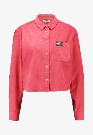 TJW WASHED CORD SHIRT - Košile - claret red