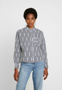 Tommy Jeans - LOGO  - Button-down blouse - black iris/classic white - 0