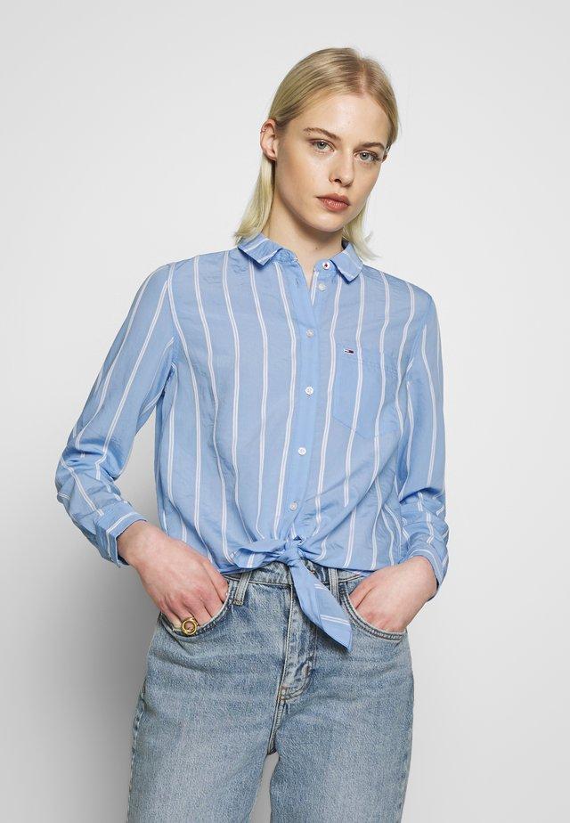 Button-down blouse - white/moderate blue