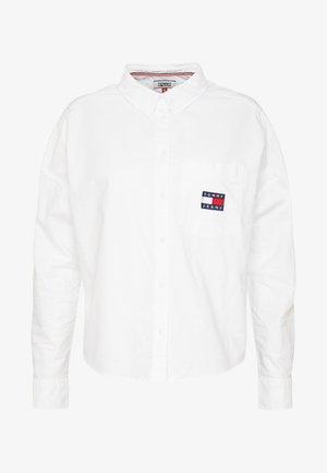 BADGE - Button-down blouse - white