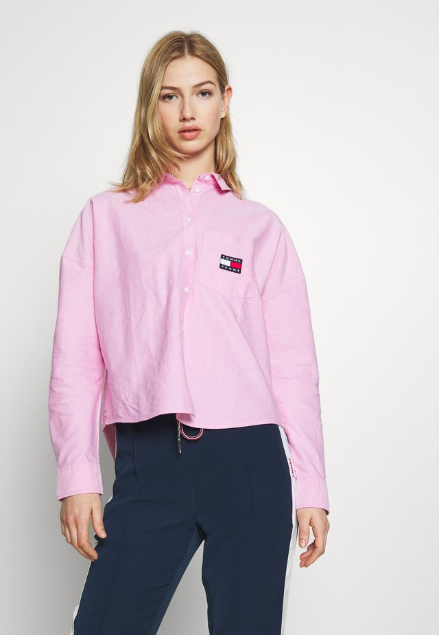 BADGE - Button-down blouse - pink daisy