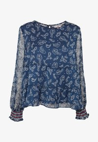 Tommy Jeans - SMOCK PRINT BLOUSE - Blůza - twilight navy - 3