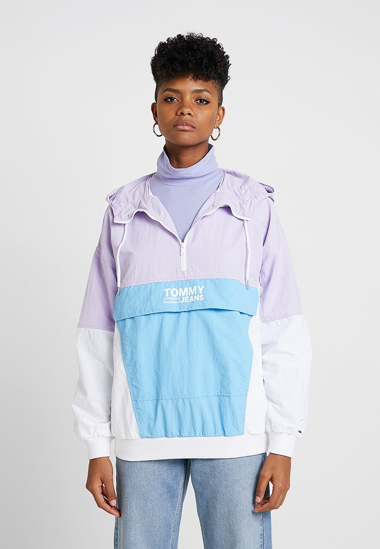Tommy Jeans - RETRO COLORBLOCK POPOVER - Chaquetas bomber - pastel lilac/multi