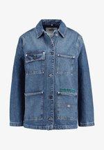 WORKWEAR JACKET - Denim jacket - save mid blue