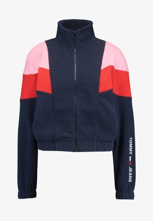 COLORBLOCK POLAR ZIP - Training jacket - black iris multi