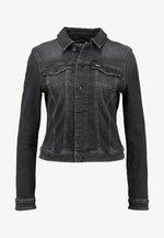 SLIM TRUCKER VIVIAN - Denim jacket - pop black com