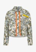 CROPPED TRUCKER JACKET  - Denim jacket - khaki/olive
