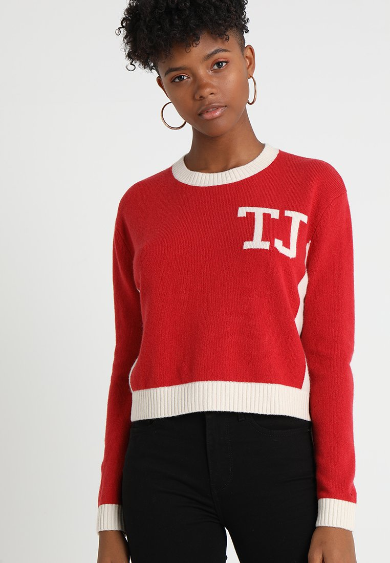 Tommy Jeans - CROPPED - Strickpullover - red