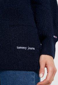 Tommy Jeans - LOFTY TURTLE NECK - Maglione - black iris - 5