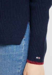 Tommy Jeans - SIDE SLIT CREW - Pullover - black iris - 5