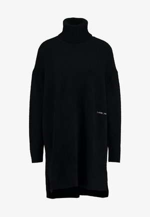 TURTLE NECK SPLIT - Pullover - black