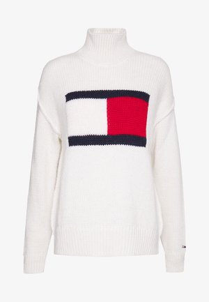 TJW TOMMY FLAG SWEATER - Strikkegenser - snow white